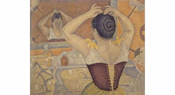 Paul Signac, Frisierszene. Opus 227 (Dekorationsentwurf für einen Waschraum), 1892, Privatsammlung © All Right reserved