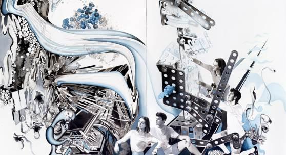 Susanne Kühn (geb. 1969): Robota II, 2019, 250 x 390 cm, Acryl, Kohle, Bleistift, Carbon- schwarz und Dispersion auf Leinwand, Fotograf: Bernhard Strauss © Bildrecht 2019