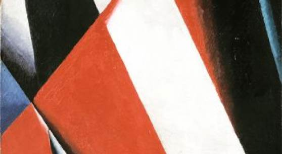 Ljubow Popowa, Malerische Architektonik, 1918. Öl auf Leinwand, 62,2 x 44,5 cm. Foto: © Staatliche Tretjakow-Galerie, Moskau © Staatliche Tretjakow-Galerie, Moskau