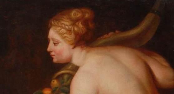 """Monogrammist """"J.V.N."""": Frankreich um 1800 - Frau mit Füllhorn. Kat.Nr. 3956, Limit: 1.600 €"""