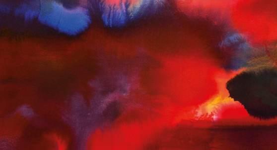 Udo Rathke Inferno, 2013 Pigmenttusche auf Bütten, 80 x 60 cm © Udo Rathke