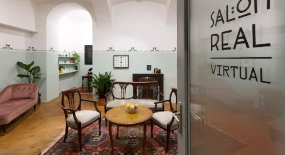 Innenansicht, galerie michaela stock, Blick in den SALON REAL, Foto: Matthias Bildstein, Courtesy galerie michaela stock
