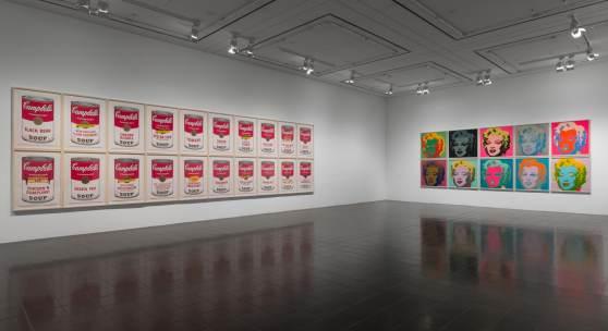 Andy Warhol (1928–1987) Campbell's Soup und Marylin, 1967 Ausstellungsansicht »15 Jahre Galerie der Gegenwart« (2012) Hamburger Kunsthalle Foto: Kay Riechers
