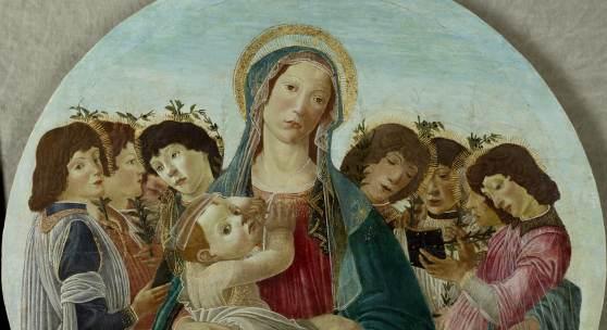 nv. 101 Sandro Botticelli (Werkstatt), Madonna mit Kind und Engeln, um 1480-90, Lindenau-Museum Altenburg