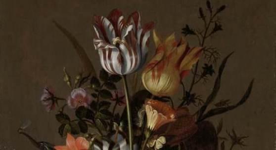 Jacob Marrel, Stilleven met bloemvaas en dode kikvors, 1634
