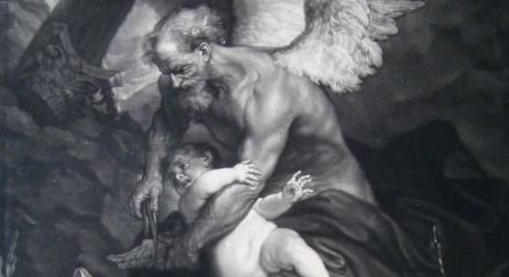 James McArdell (1728–1765), Die Zeit beschneidet der Liebe die Flügel,  nach Antonis van Dyck, Schabblatt, 45,8 x 35,2 cm, Alte Galerie, Inv.-Nr. AG.K. 526