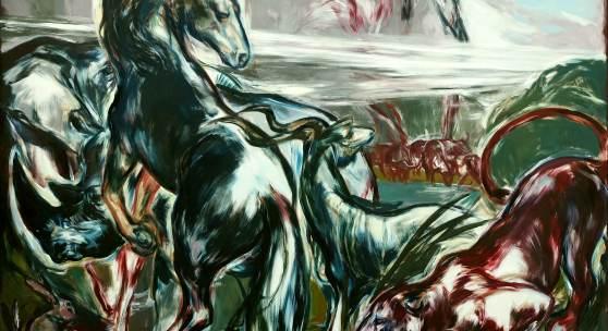 "Martin Stommel ""Day 6"" 200 x 270 cm Öl auf Leinwand 2019"