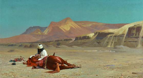 Jean-Léon Gérôme, Rider and his Steed in the Desert, oil on canvas, 1872, Estimate £1,000,000-1,500,000