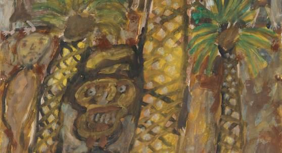 Jean Dubuffet, Palmiers Aux Bedouins (Palm Trees with Bedouins), 1948 (est. $60,000-80,000)