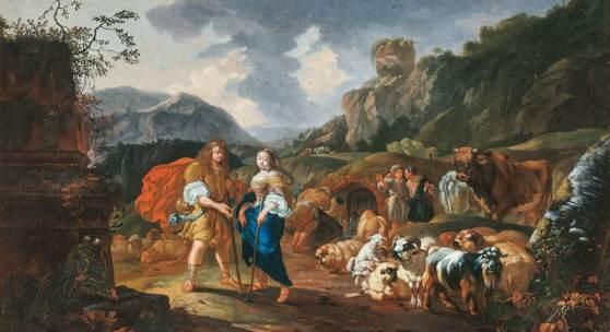 Johann Heinrich Roos (Otterberg 1631 - Frankfurt/Main 1685) Schäferpaar. Limitpreis:18.000 €