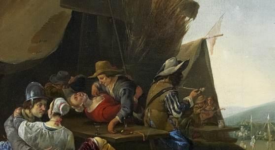Im Soldatenlager des niederländischen Meisters Johannes Lingelbach