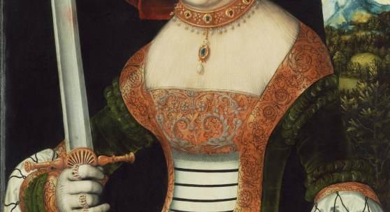 "Bild: Lucas Cranach d. Ä., ""Judith mit dem Haupt des Holofernes"", um 1530, Öl auf Holz, 87,3 x 57,4 cm, Museumslandschaft Hessen Kassel, Gemäldegalerie Alte Meister"
