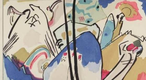 """Wassily Kandinsky, Franz Marc: Der Blaue Reiter Piper Verlag, München 1912 (Illustration: Entwurf zu """"Komposition Nr. 4"""" von Wassily Kandinsky ) Courtesy Sammlung Giovanni Aldobrandini Foto: © Belvedere, Wien"""