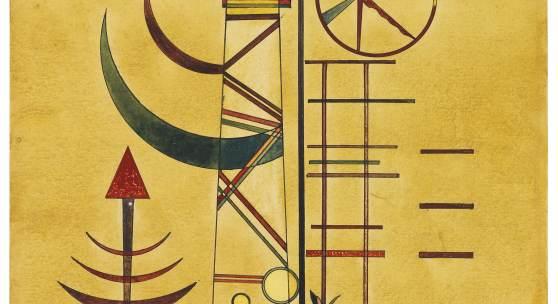 Wassily Kandinsky Gebogene Spitzen Aquarell, 1927, 48 x 32,2 cm € 250.000-350.000