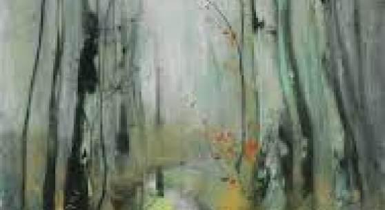 Karl Hagemeister Birken im Herbst am Bachlauf Mischtechnik mit Pastell auf Leinwand, um 1908-1913 10 x 70,1 cm / 39.3 x27.5 inches € 10.000-15.000