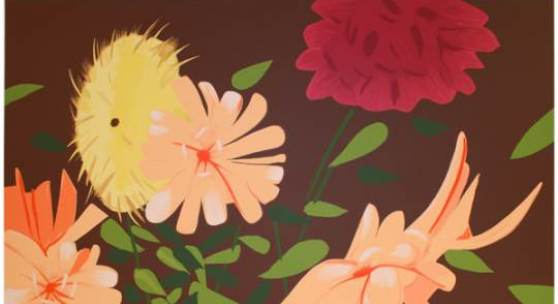 Alex Katz, Late Summer Flowers