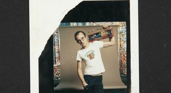 Keith Haring - Credit © Keith Haring Foundation. Polaroids, The Keith Haring Foundation Archives