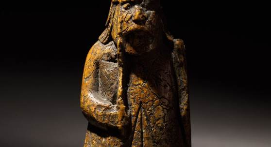 Sotheby's London, 2 July 2019 Old Master Sculpture & Works of Art   Attributed to the Lewis Chessman Workshop Probably Norwegian, Trondheim, 13th Century   A Warder   walrus ivory 8.8cm., 3½in.   Estimate £600,000-1,000,000 Sold for £735,000 / $927,423