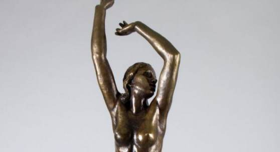 Klimsch, Fritz. 1870 Frankfurt am Main - Freiburg 1960 Frühling. Bronze, braun patiniert.  Aufrufpreis:25.000 EUR