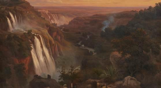 Lot 167 Nr. 376 355 Franz Knebel Wasserfälle bei Tivoli. 1876 Öl auf Leinwand, 98 x 136 cm Schätzpreis: € 12.000 – 15.000,-