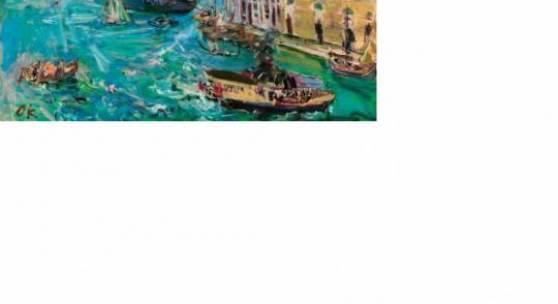 Kokoschka_Oskar_Venedig, Bacino di San Marco, 1948, Öl auf Leinwand, 65 x 90 cm, 350.000-700.000