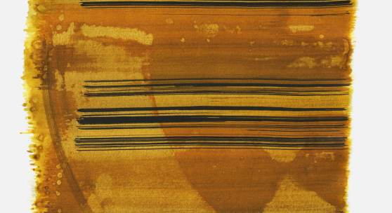 """""""Aufschrei 11:55 Uhr"""", 2015, Tusche auf Papier, 48 x 36cm; copyright: Konstanze Sailer"""