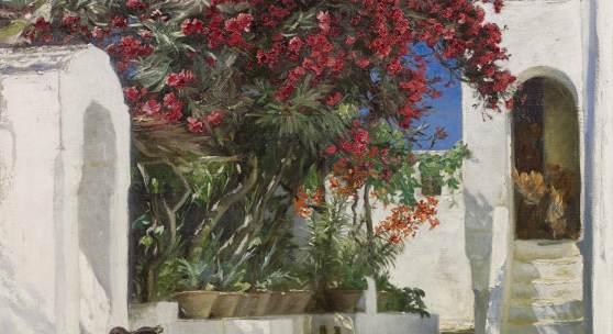 Peder Severin Krøyer, Oleanders in Bloom, Capri £400,000-600,000 (DKK 3.4- 5.1 million).