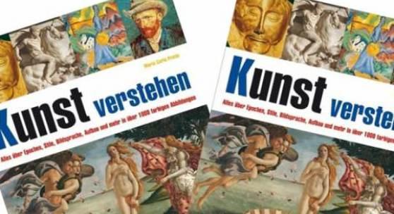 <p>Kunst verstehen: Alles &uuml;ber Epochen, Stile, Bildsprache, Aufbau und mehr in &uuml;ber 1000 farbigen Abbildungen. # Gebundene Ausgabe: 384 Seiten # Verlag: Naumann &amp; G&ouml;bel (15. September 2009) # Sprache: Deutsch # ISBN-10: 3625126508<br /># ISBN-13: 978-3625126508. Bildmaterial: www.amazon.de</p>