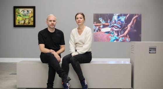 Ausstellungsansicht »MONDJÄGER. Nathalie Djurberg & Hans Berg im Dialog mit Asger Jorn«, Kunstmuseum Ravensburg, 2019, VG Bild-Kunst, Bonn 2019, Foto: Wynrich Zlomke