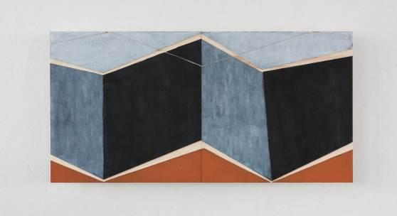 "Kunstverein Würzburg Geist ""Mäander III"", Oel auf Holz 2-teilig je 30 x 30 cm (c )Frank Kleinbach"