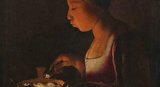 Nr. 402 727 Georges de la Tour (1593 – 1652) Mädchen, in ein Kohlebecken blasend (La Fillette au braisier). Circa 1646–48. Signiert Öl auf Leinwand, 76 x 55 cm Schätzpreis: € 3.000.000 – 4.000.000,- Ausgestellt u.a. in Museen in Paris, Bordeaux, Stockholm, Bern, London, Bremen, Madrid.