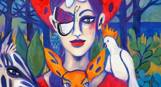 lady butterfly.... von Gabi Domenig