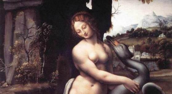 """Kunst, Renaissance, Künstler- Geschichte Das Gemälde """"Leda"""" von """"Leonardo da Vinci"""" als hochwertige, handgemalte Ölgemälde-Replikation. Quelle: www.oel-bild.de"""