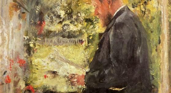 Wilhelm Leibl, Dr. Reindl in der Laube, um 1890, Städtische Galerie im Lenbachhaus, München