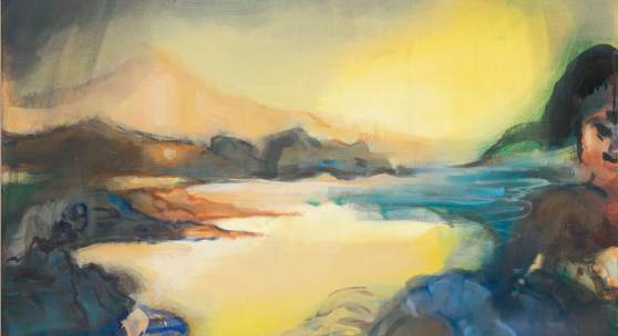 Leiko Ikemura (1951) Lake Scape   2010   Öl auf Jute   90 x 119,5 cm Taxe: 6.000 – 8.000 Euro