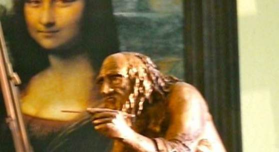 Eduard  Panosian die Leonardo da Vinci beim Malen
