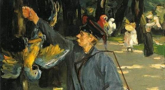 Max Liebermann (1847 - 1935), Der Papageienmann, 1902, Öl auf Leinwand, 102,3 x 72,3 cm, © Museum Folkwang, Essen