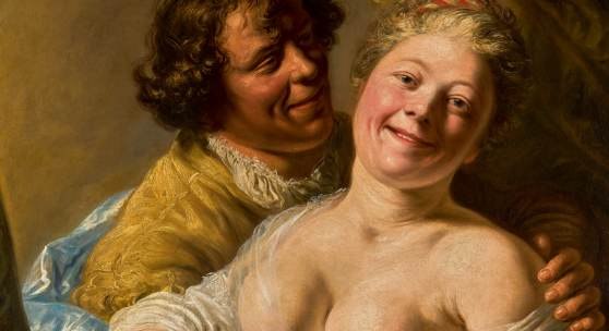 Jan Lievens Woman Embraced by a Man, Modelled by the Young Rembrandt oil on canvas 38¼ by 33⅛ in.; 97 by 84 cm. Estimate $4/6 million