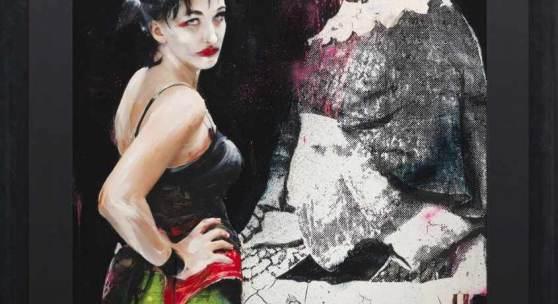 """Lita Cabellut (1961 Sariñena/Aragon/Spanien. Ansässig in Den Haag) """"Femme fatal 02 Unica"""". Originaltitel Mindestpreis:16.000 EUR"""
