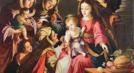 Josefa de Óbidos (de Ayala) (Sevilla 1630 - 1684 Óbidos, Anbetung des Kindes Mindestpreis:25.000 EUR