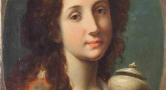"Marinari, Onorio (1627 Florenz - 1715 ebda., ""Maria Magdalena"", Öl auf Leinwand, doubliert, ovaler Bildausschnitt, 54 x 40 cm. Mindestpreis:5.000 EUR"