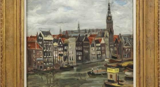 Max Liebermann (1847 Berlin - 1935 ebenda) Amsterdamer Gracht Mindestpreis:85.000 EUR Aufrufpreis:85.000 EUR