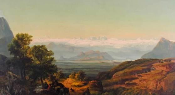 """Püttner, Josef Carl Berthold (1821 Plan - 1881) """"Die Straße nach Santiago de Chile"""" Mindestpreis:4.500 EUR"""