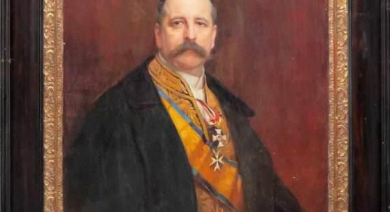 Philip Alexius de László, Großformatiges Portrait des Alfons Mumm von Schwarzenstein, Ölgemälde, 1903, Aufrufpreis:3.500 EUR Schätzpreis:10.000 - 14.000 EUR