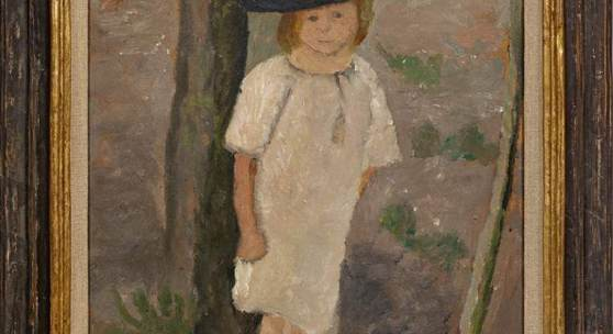 Paula Modersohn-Becker (1876 Dresden - 1907 Worpswede) Kind am Baumstamm, Mindestpreis:280.000 EUR