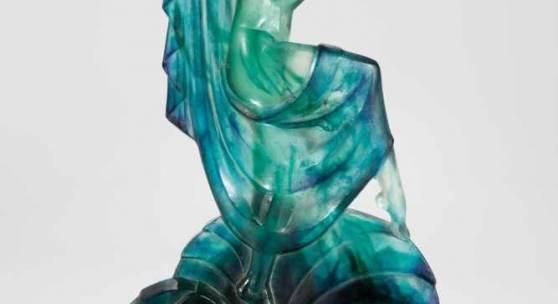 Seltene und bedeutende Figur einer Tänzerin Marcel Bouraine (Entwurf), für Gabriel Argy-Rousseau, Paris, 1928, Schätzpreis:15.000 - 18.000 EUR