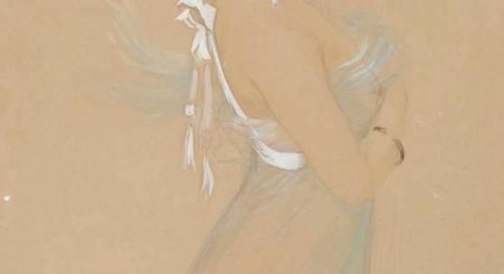 Henri Edmond Rudaux (1870-1927) Portret van Mata-Hari afgebeeld als Diana godin van de jacht. Schätzpreis:6.000 - 8.000 EUR