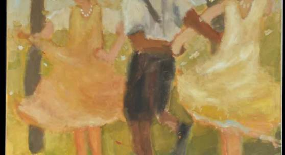 "Lipp, Kilian, 1953 Hindelang Öl/Lwd, 120 x 140 cm, "" Drei Tanzende "" Mindestpreis:3.000 EUR"