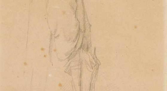 Spitzweg, Carl (1808 München 1885) Mann mit Kaftan, Turban und Schirm. Schätzpreis:1.200 - 1.600 CHF