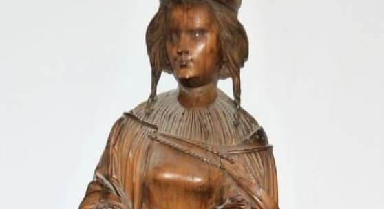 Daniel Mauch, Hl. Barbara, große Holzskuptur, Ulm um 1515/20, Schätzpreis:80.000 - 100.000 EUR